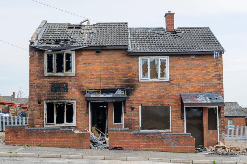 Badly damage house. Landlord Insurance near me, Hull, East Yorkshire